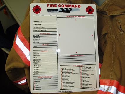 Fire department incident safety officer checklist